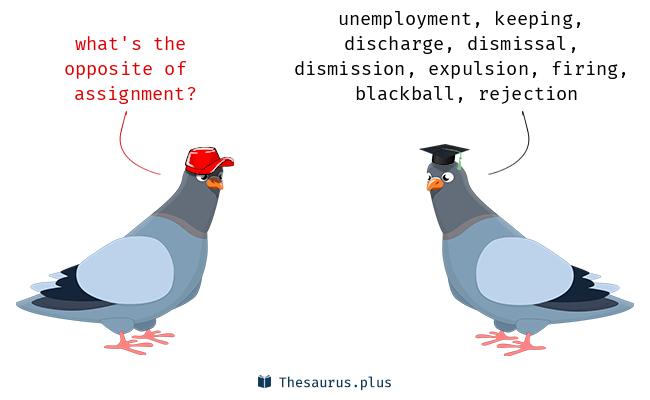 assignment thesaurus