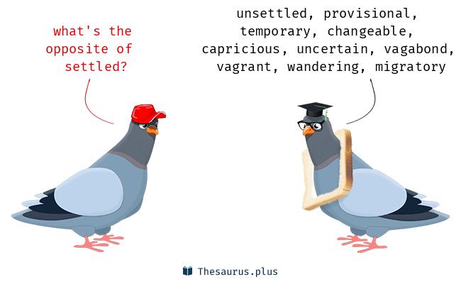 More 60 Settled Antonyms  Full list of opposite words of settled