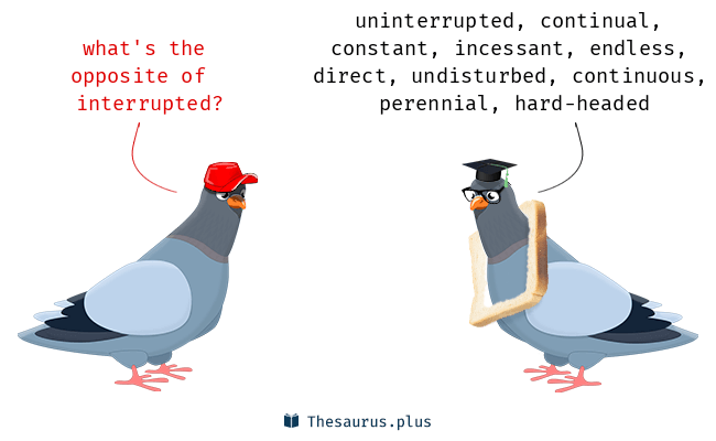 Antonyms for interrupted