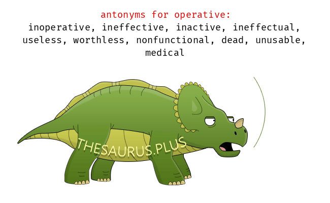 Opposite words of operative