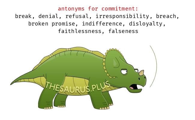 Antonym of commitment