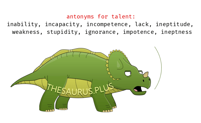 Opposite words of talent