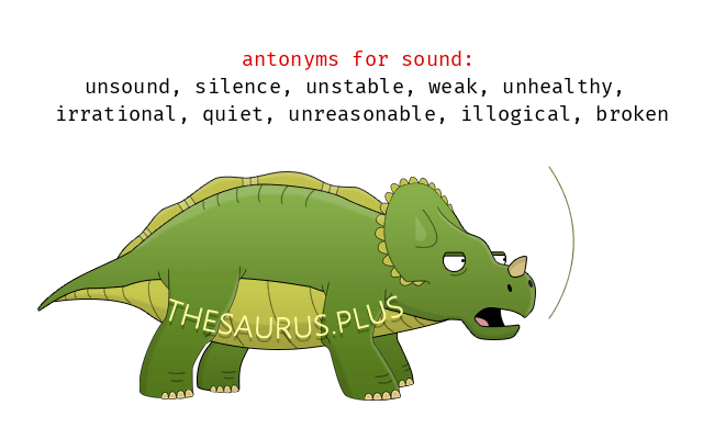 Opposite words of sound