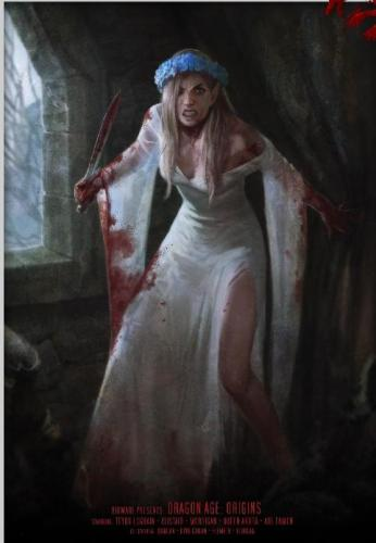 Blood-Splattered Wedding Dress