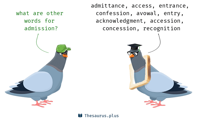 Synonyms for admission