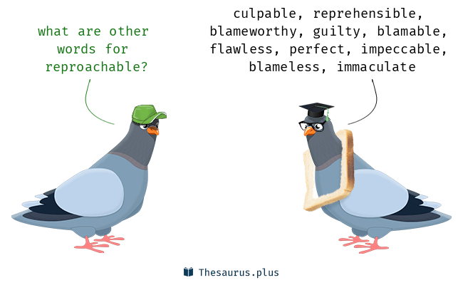 Synonyms for reproachable