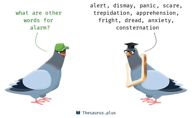 Synonyms for alarm