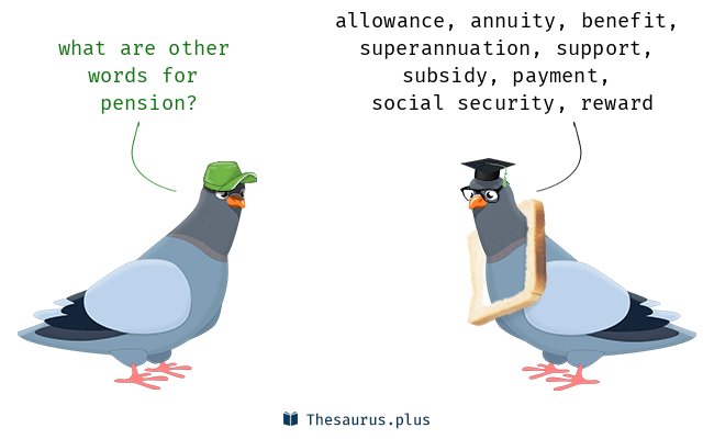 Synonyms for pension