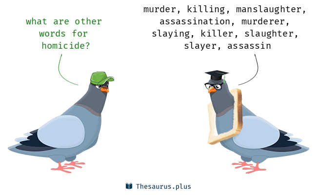 Synonyms for homicide