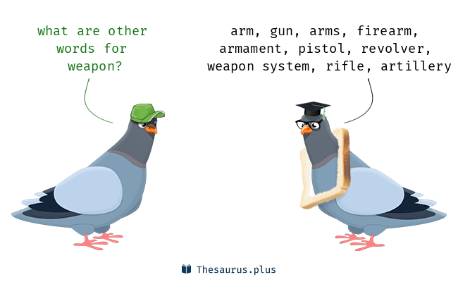 Synonyms for weapon