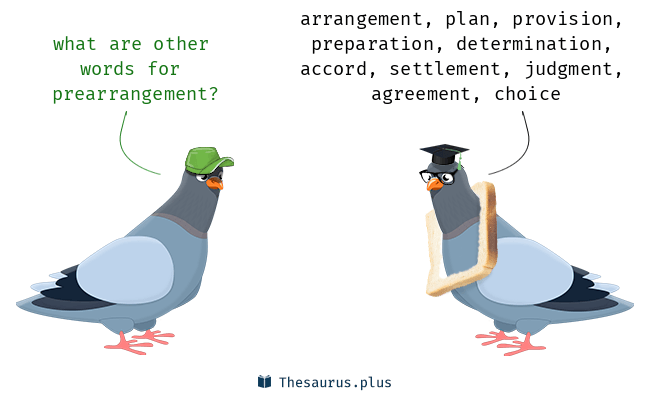 Synonyms for prearrangement