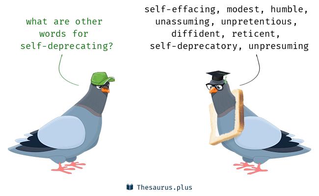 self deprecating antonym