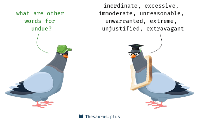 Synonyms for undue