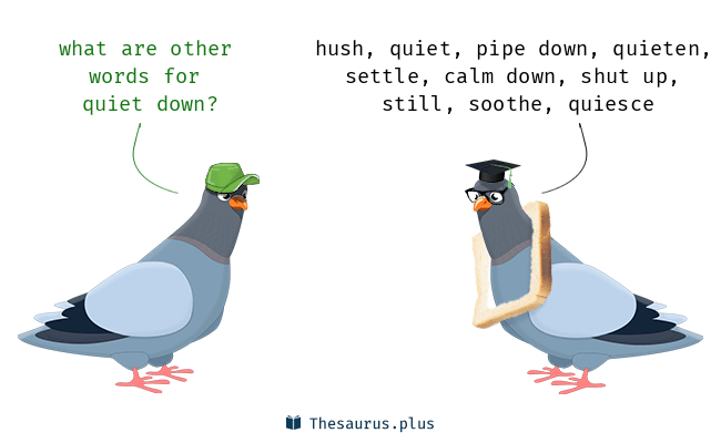 Synonyms for quiet down