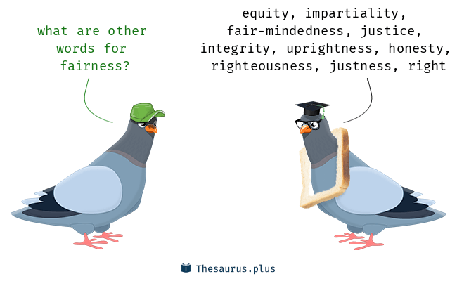 Synonyms for fairness