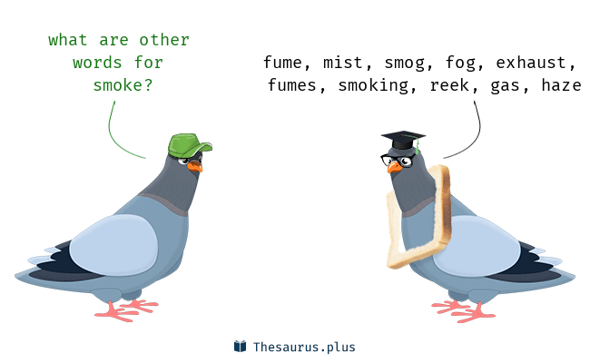 Synonyms for smoke