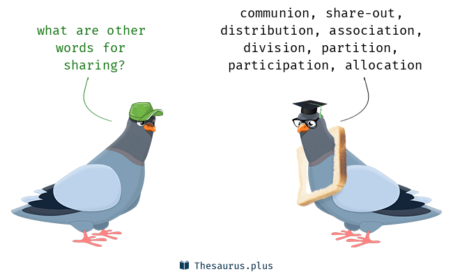 Synonyms for sharing