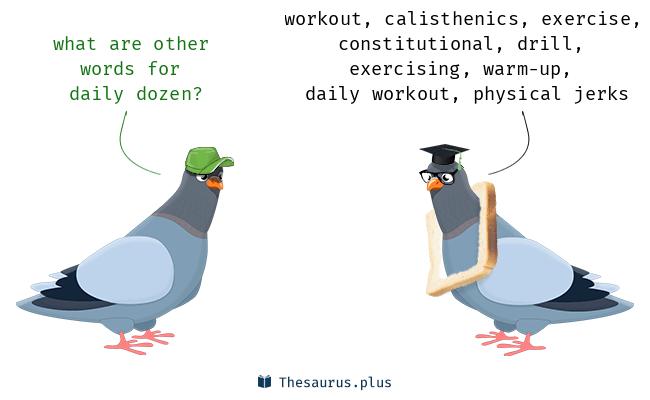 More 100 Daily dozen Synonyms  Similar words for Daily dozen