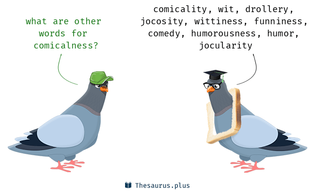 Synonyms for comicalness