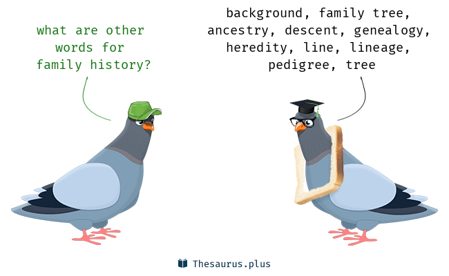 Synonyms for family history