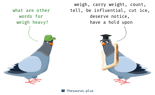 Synonyms for weigh heavy