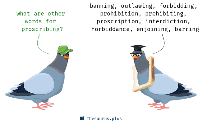 Synonyms for proscribing