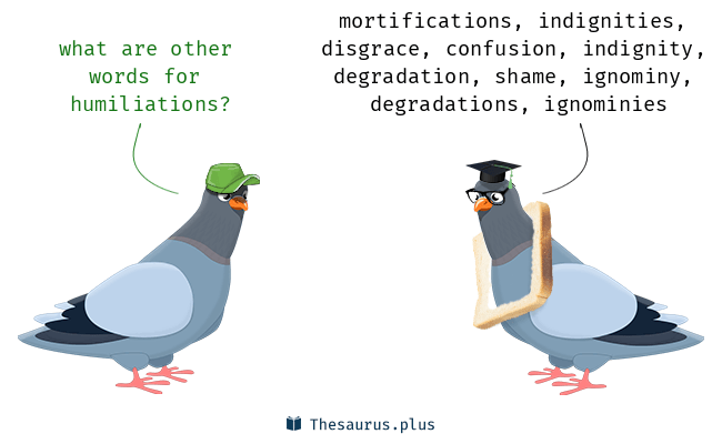 Synonyms for humiliations