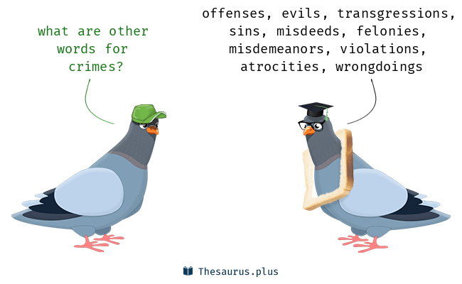 Synonyms for crimes