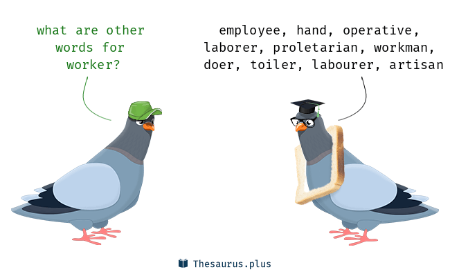 Synonyms for worker