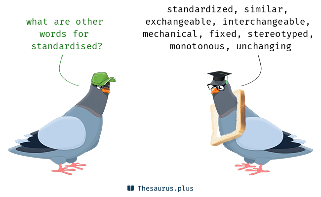 Synonyms for standardised