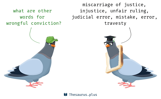 Synonyms for wrongful conviction