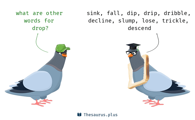 Synonyms for drop