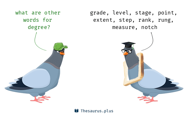 Synonyms for degree