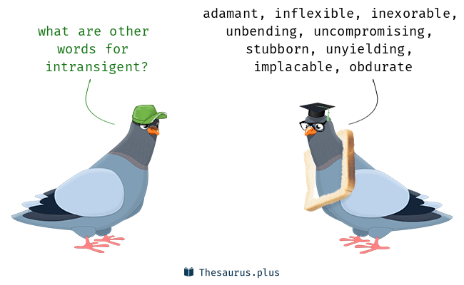 Synonyms for intransigent