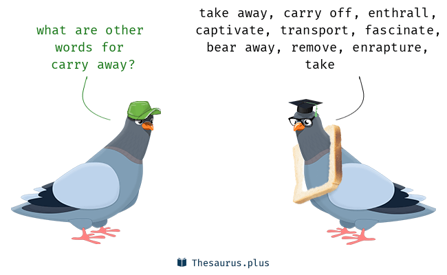 Synonyms for carry away