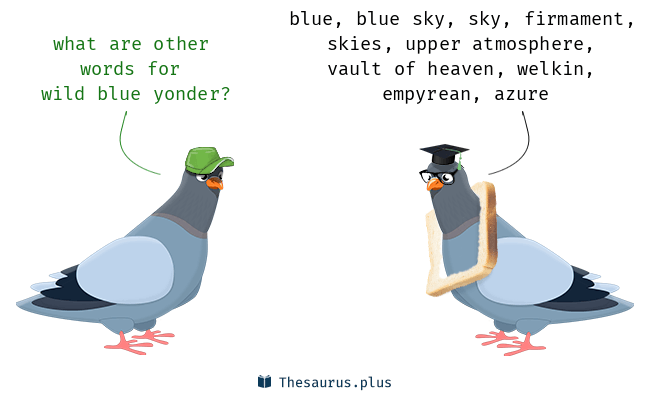 terms azure and wild blue yonder are semantically related or have