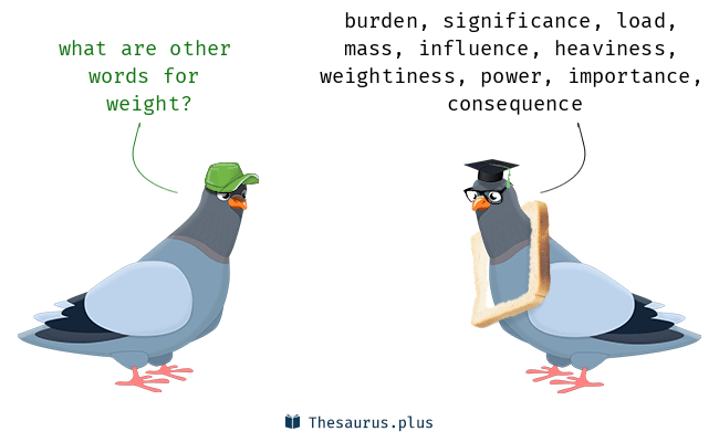 Synonyms for weight