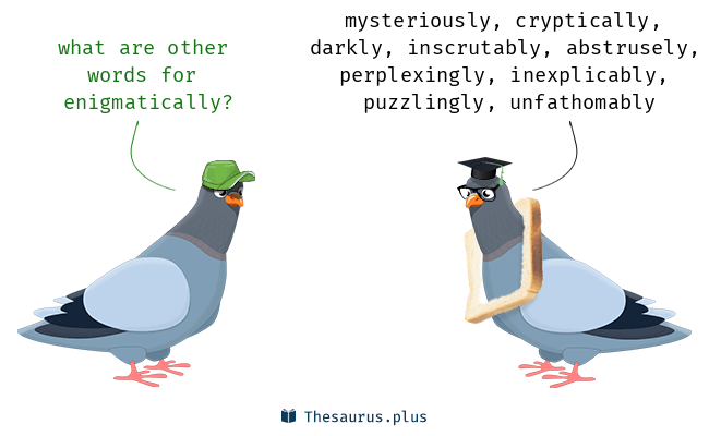 Synonyms for enigmatically