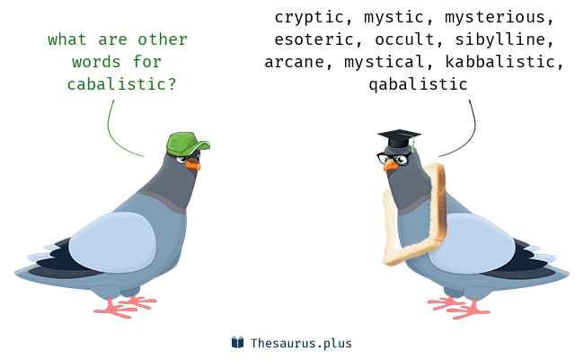 Synonyms for cabalistic