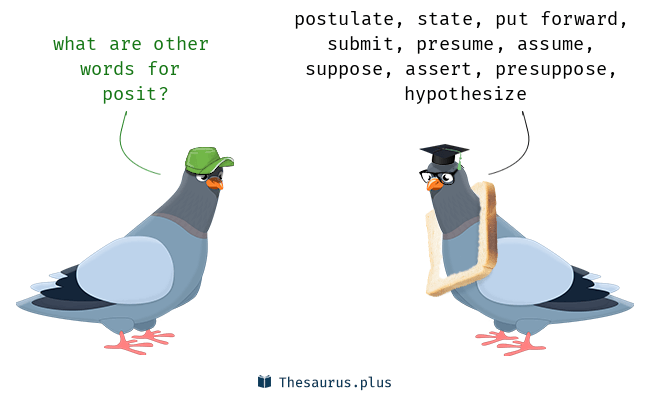 Synonyms for posit