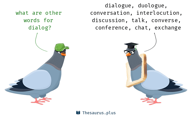 Synonyms for dialog