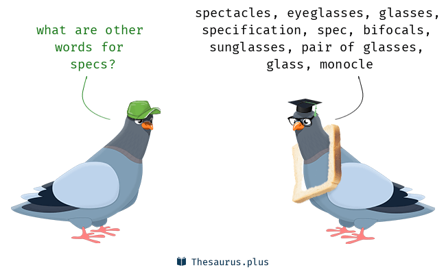 Synonyms for specs