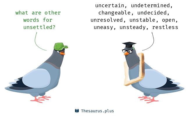Synonyms for unsettled