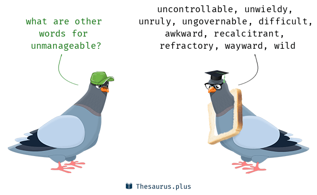 Synonyms for unmanageable