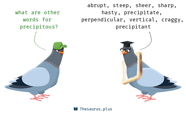 Synonyms for precipitous