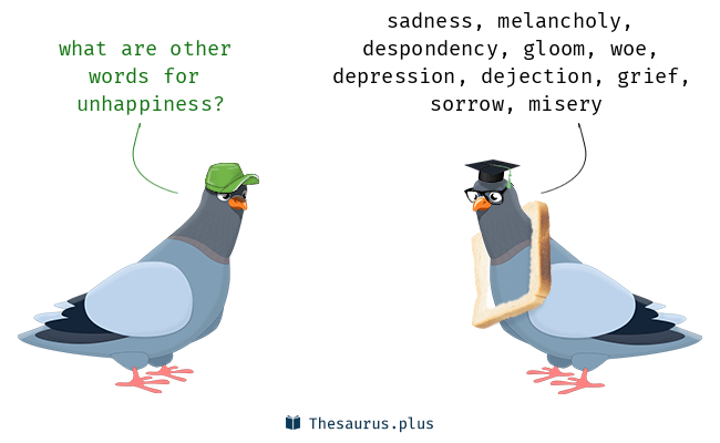Synonyms for unhappiness