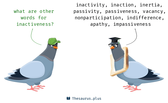 Synonyms for inactiveness