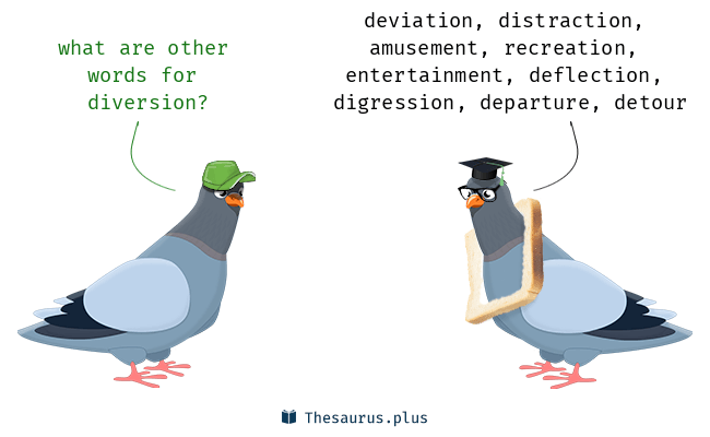 Synonyms for diversion