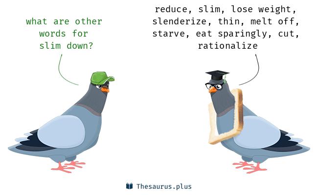 slim down însemnând phrasal verb)