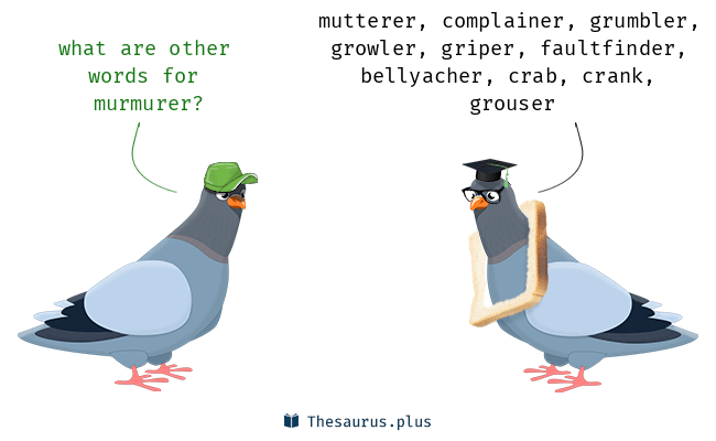 Synonyms for murmurer